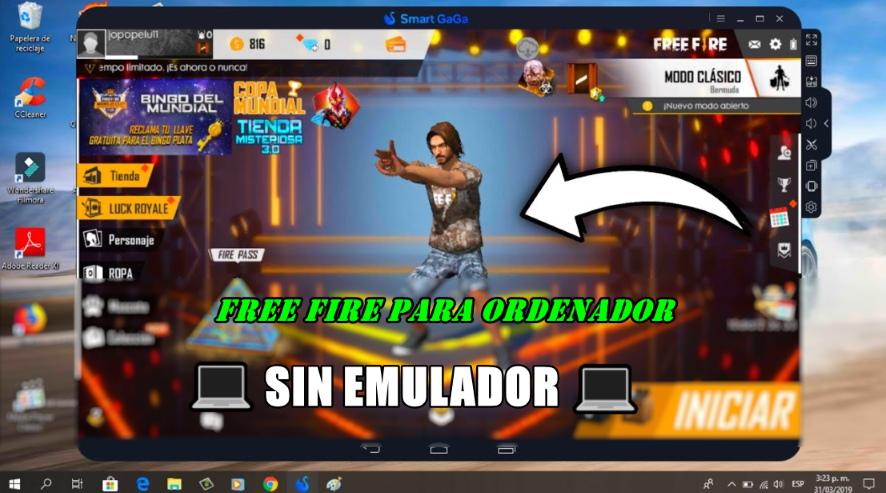 descargar garena free fire para pc sin emulador gratis