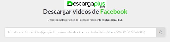herramienta online para descargar video de facebook