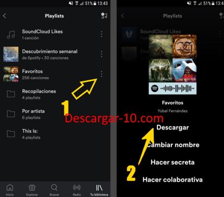descargar musica de spotify al movil