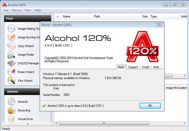 características alcohol