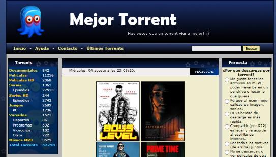 pagina para descargar peliculas por torrent